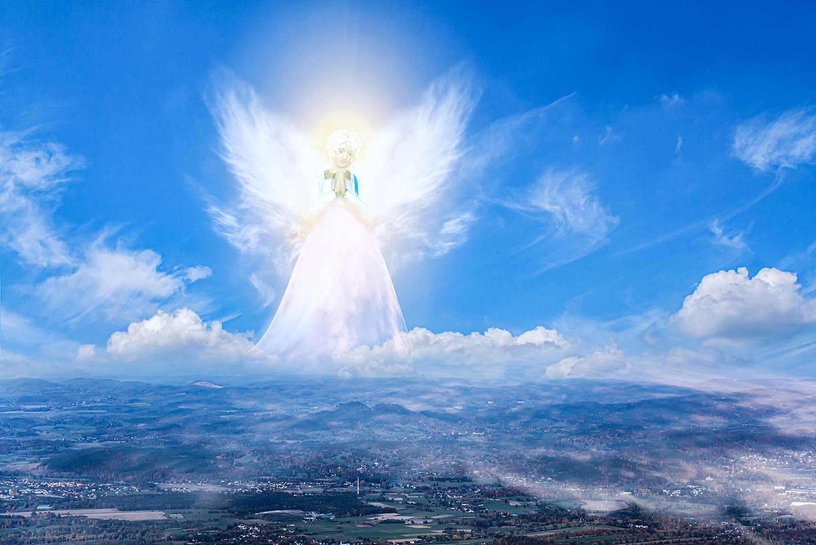 anděl na obloze