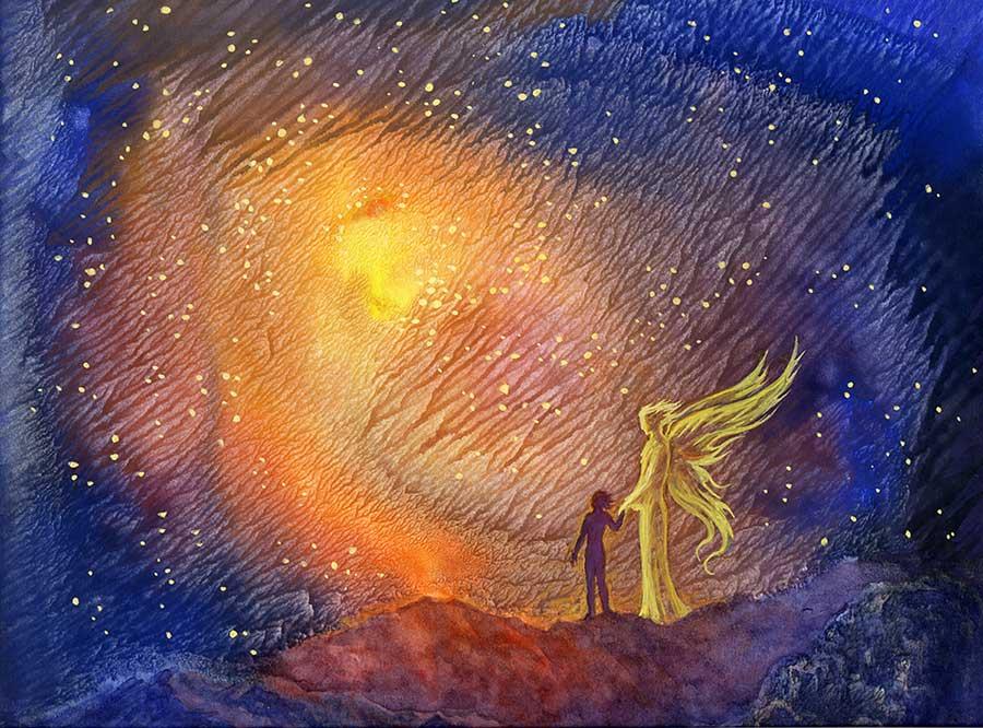 anděl ve vesmíru