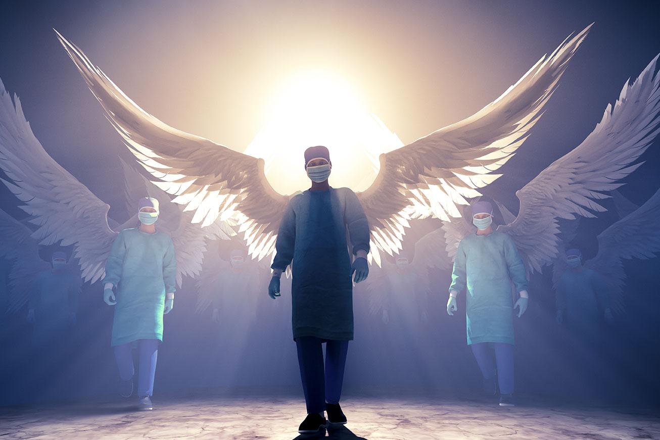 andělé a lockdown