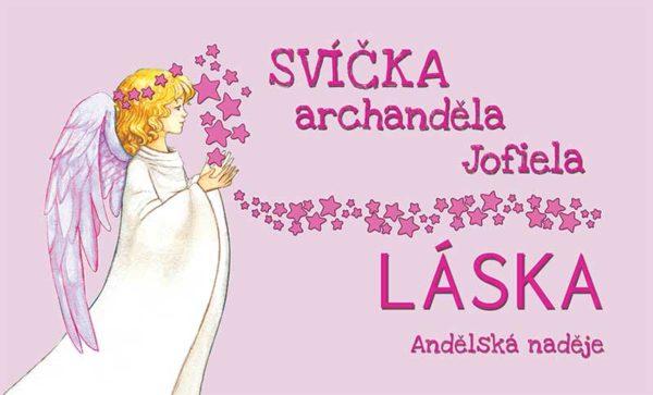 svíčka archanděla Jofiela samolepka