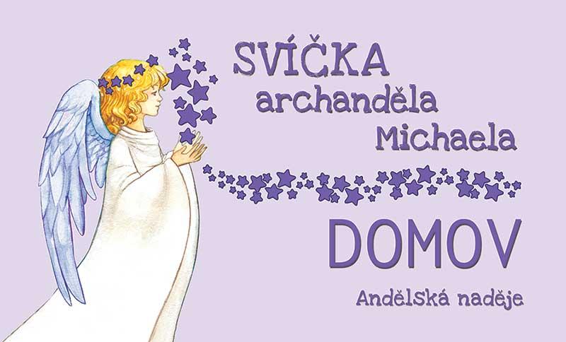 svíčka archanděla Michaela samolepka