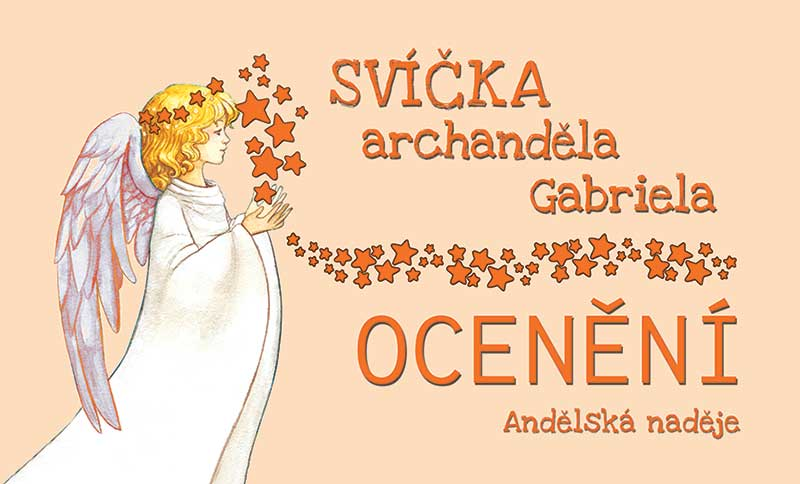 svíčka archanděla Gabriela samolepka