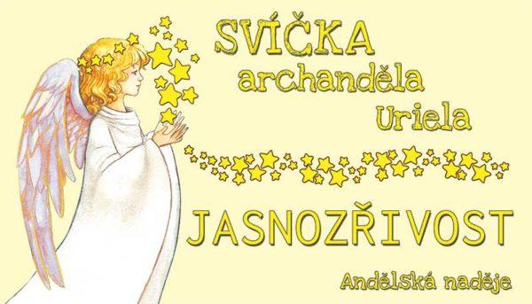 svíčka archanděla uriela samolepka