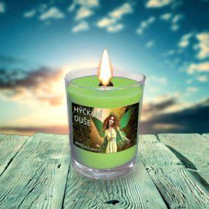 svíčka hýčkání duše hořící